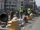 """""""المرور"""" تغلق محور النصر جزئيًا لحين الانتهاء من أعمال الكشط والرصف"""