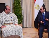 """الرئيس السيسى يلتقى عبد الرحمن شعلان بطل مصر فى""""السومو""""بمقر إقامته بطوكيو"""