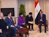 """السيسي يلتقى بطوكيو وفد جمعية الصداقة البرلمانية """"المصرية  - اليابانية"""""""