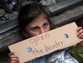 بالصور.. المهاجرون على الحدود اليونانية يعانون من البرد والأمطار