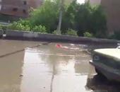صحافة المواطن: بالفيديو.. المياه توقف الحركة على الدائرى اتجاه المهندسين