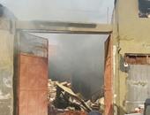 السيطرة على حريق هائل نشب داخل مخزن فى المنوفية