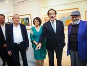 فى معرض فاروق حسنى.. نجيب ساويرس: اللوحات بها روح جديدة