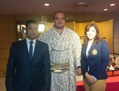 """بالصور..بطل """"السومو"""" بعد لقاء الرئيس: رسالتى لشباب مصر الإرادة والصبر كي تنهض بلدنا"""