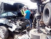 إصابة 10 فى حادث تصادم على الطريق السريع الشرقى بسوهاج