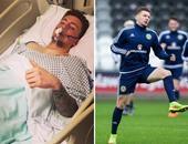 """لاعب شيفيلد يونايتد ينجو من الموت بعد الإصابة فى مكان """"حساس"""""""