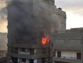 الحماية المدنية بالجيزة تسيطر على حريق فى شقة سكنية بالبدرشين