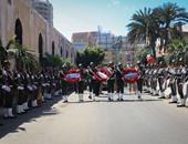 جنازة عسكرية للشهيد محمد الحسينى رئيس مباحث أبو صوير بمسقط رأسه ببورسعيد