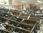 انهيار أرفف مكتبة حقوق بجامعة أسيوط دون وقوع إصابات