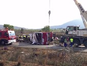 مصرع 15 شخصا وإصابة 21 آخرين فى حادث انقلاب حافلة بالأرجنتين