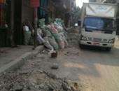 صحافة المواطن.. بالصور: تدهور شارع الظواهرى بشبرا بسبب أعمال حفر لتركيب كابلات
