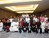 """بالصور.. تكريم كريم عبدالعزيز ووالده محمد عبدالعزيز بـ""""مسقط السينمائى"""""""