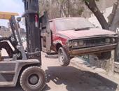 رفع 15 سيارة ودراجة بخارية متروكة فى حملات مرورية بشوارع القاهرة