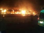 صحافة المواطن.. بالفيديو.. لحظة اندلاع حريق ترام فيكتوريا فى الإسكندرية