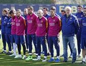 بالصور.. دقيقة حداد فى تدريبات برشلونة على يوهان كرويف