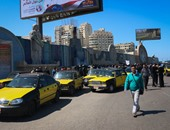 زحام مرورى بسيدى جابر بسبب إضراب سائقى التاكسى فى الإسكندرية
