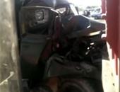 صحافة المواطن: تصادم سيارة نقل ثقيل بسيارة جنود فى المنوفية