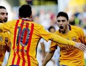 بالفيديو.. برشلونة يتقدم على إيبار فى الشوط الأول بثنائية ميسي والحدادى