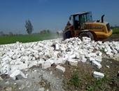 إزالة 35 حالة تعدٍ على الأراضى الزراعية وأملاك الدولة بسوهاج