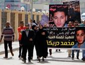 بالصور.. تجمهر أهالى قتيل الدرب الأحمر أمام محكمة التجمع وهتافات بإعدام المتهم