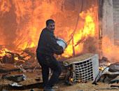 السيطرة على حريق هائل بمصنع مواد غذائية بأكتوبر