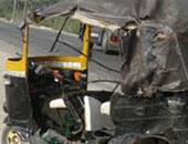 """إصابة 5 أطفال فى حادث انقلاب """" توك توك"""" بالبحيرة"""