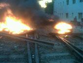 انفجار يتسبب فى انفصال جزء من قضبان السكة الحديد بقرية البيروم بالشرقية