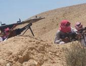التصدى لهجومين إرهابيين استهدفا ارتكازات أمنية جنوب الشيخ زويد