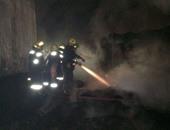 السيطرة على حريق نشب فى لوحة إعلانات أعلى كوبرى أكتوبر بسبب ماس كهربائى