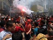 الإخوان ينظمون مسيرة بالمطرية.. ويطلقون الألعاب النارية