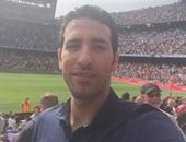 """أبو تريكة ينشر صورة على إنستجرام من مدرجات ملعب """"كامب نو"""""""