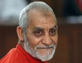 """تأجيل محاكمة بديع و190 آخرين فى """"اقتحام قسم العرب"""" لـ 23 مايو"""