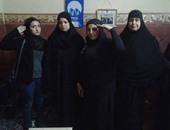 """بالصور.. """"ضابطات المستقبل"""" يزرن أهالى الشهداء بكفر الشيخ"""