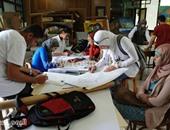 مركز شباب قليوب ينظم معرضا للفنون التشكيلية فى الرسم والتصوير