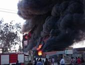 حريق هائل بشركة إيماك لتصنيع الأوراق بمنطقة شمال غرب خليج السويس