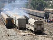 السيطرة على حريق التهم جرار  قطار فى محطة أسيوط