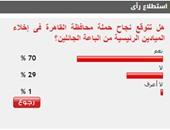 70% من القراء يتوقعون نجاح محافظة القاهرة فى إجلاء الباعة الجائلين