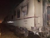 قطار العياط يواصل رحلته لأسوان بعد تغيير الجرار المحترق