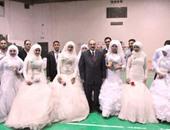 محافظ القليوبية يشهد حفل العرس الجماعى باستاد بنها الرياضى بمناسبة عيد اليتيم