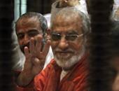 """نظر محاكمة بديع و738 متهما فى أحداث """"فض اعتصام رابعة"""" اليوم"""