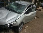 إصابة شخص فى انقلاب سيارة ملاكى بمحور المشير طنطاوى