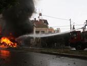 تفحم 3 أشخاص فى حادث تصادم أعلى كوبرى الألمانى بالإسكندرية