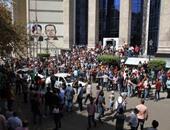 نشطاء ينهون مظاهراتهم الاحتجاجية أمام نقابة الصحفيين