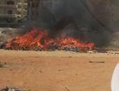 السيطرة على حريق مخلفات بأرض فضاء فى أكتوبر دون اصابات