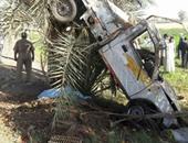 إصابة 6 أشخاص فى حادث انقلاب سيارة ربع نقل بالطريق الصحراوى الغربى بالمنيا