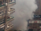 صحافة المواطن.. قارئ يرسل صور حريق محل ملابس فى المهندسين