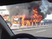 بالفيديو.. انفجار حافلة ركاب وسط إسطنبول