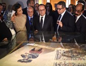 بالصور.. الرئيس الفرنسى يزور المتحف القبطى والكنيسة تكلف أسقفين لاستقباله