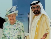 حاكم دبى يهنئ اليزابيث الثانية ملكة بريطانيا بعيد ميلادها الـ90