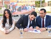 بالصور.. نجوم الفن والإعلام يحتفلون بزفاف كريم السبكى وشهد رمزى